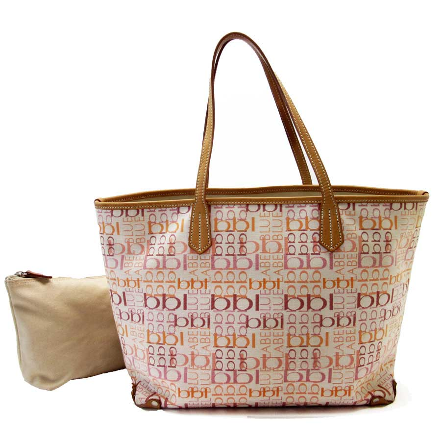 41ed81e504b BrandValue: Burberry BURBERRY BLUELABEL shoulder bag tote bag ivory x brown x  pink x orange canvas x leather Lady's - t13538 | Rakuten Global Market