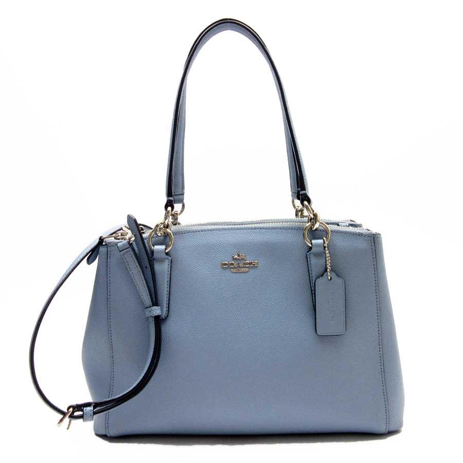 basic popularity   used  take a coach  COACH  handbag slant  shoulder bag  2Way bag lady blue x silver leather 819d90798cfd8