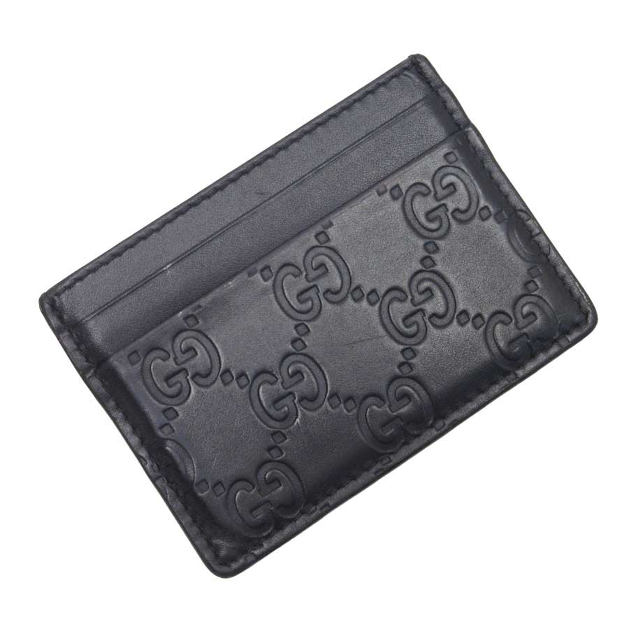 e153eb63d23d BrandValue: Gucci GUCCI card case pass holder pass case Gucci sima NERO  (black) Gucci sima leather Lady's men -89,157 | Rakuten Global Market
