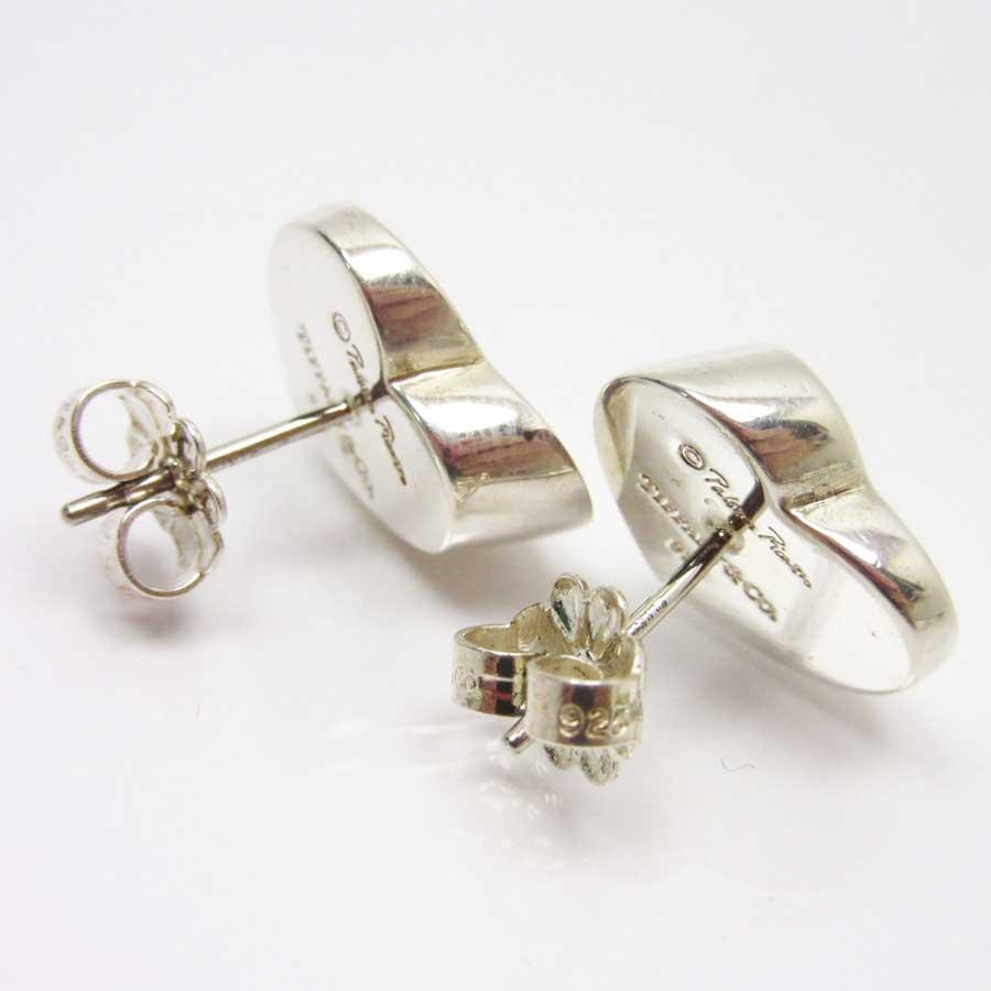 efcd8c50da7d  basic popularity   used  Tiffany  Tiffany Co.  Paloma Picasso modern heart  pierced earrings Lady s silver 925x diamond