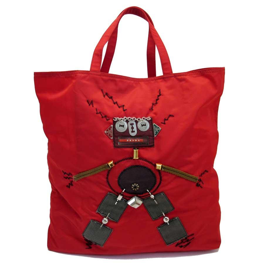adc74a57cd46 discount code for brandvalue rakuten global market prada prada handbag tote  bag red nylon x metal