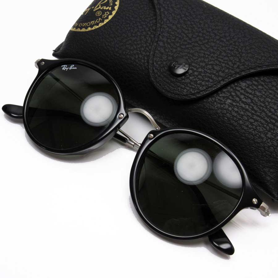 82b1c6723d  basic popularity   used  a Ray-Ban  Ray-Ban  round sunglasses (49 □ 21  145) lady s men s black x silver plastic x metal material