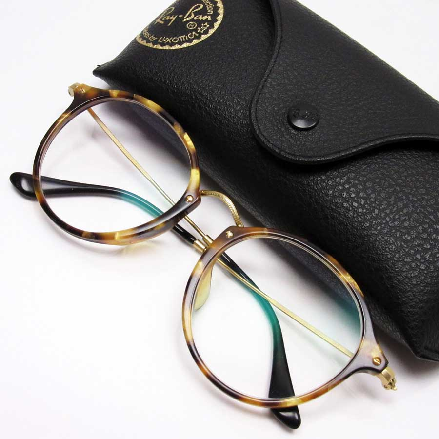 b9028b864b2  basic popularity   used  a Ray-Ban  Ray-Ban  glasses (there is a degree)  lady s men s frame  Beige   brown side  Gold x black frame   side  Plastic  xSS