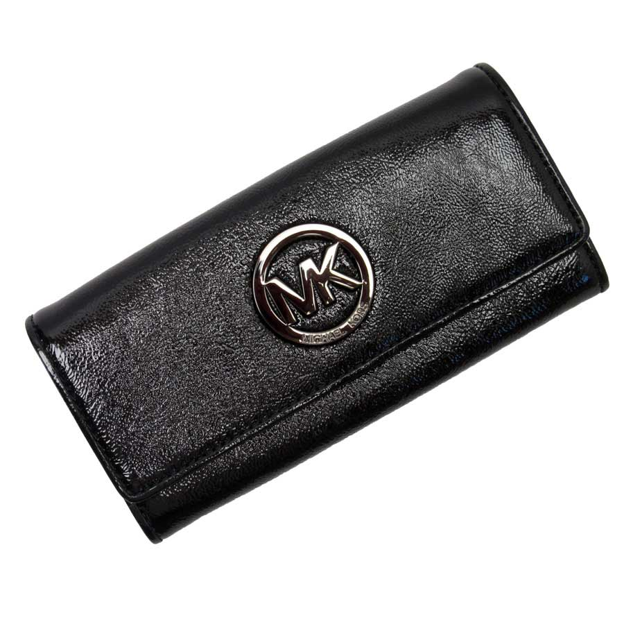 0f9734baff09 [basic popularity] [used] Michael Kors [MICHAEL KORS] long wallet Lady's  black patent leather