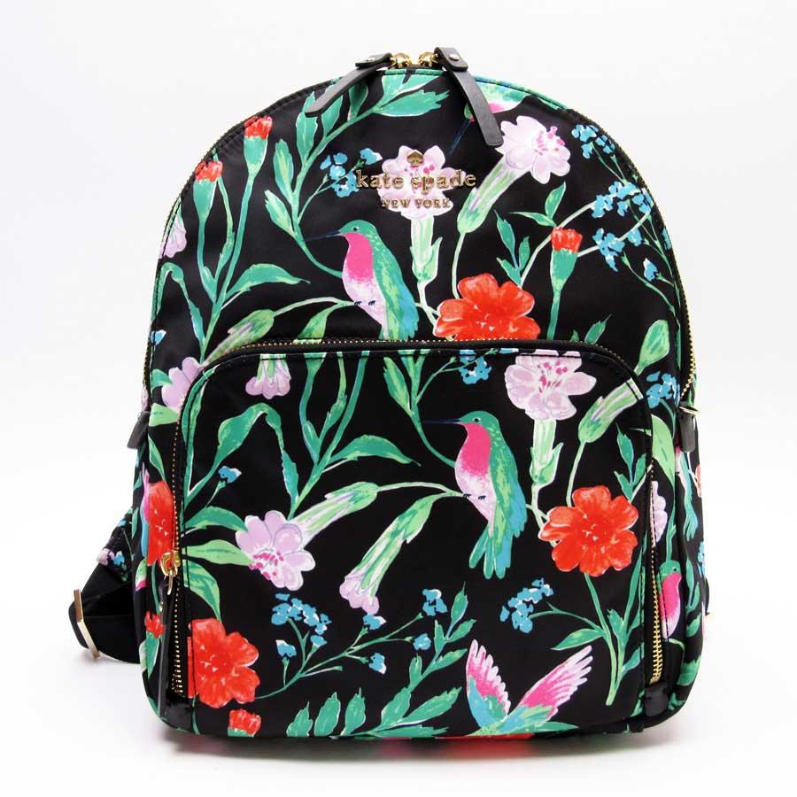 9ce917e44201 BrandValue: Kate spade kate spade rucksack backpack black x multicolored  nylon x leather Lady's - t13813 | Rakuten Global Market