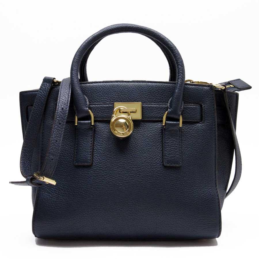 4f97fad5bf2 Take Michael Kors MICHAEL KORS handbag slant; shoulder bag 2Way bag navy x  gold leather Lady's - h19529