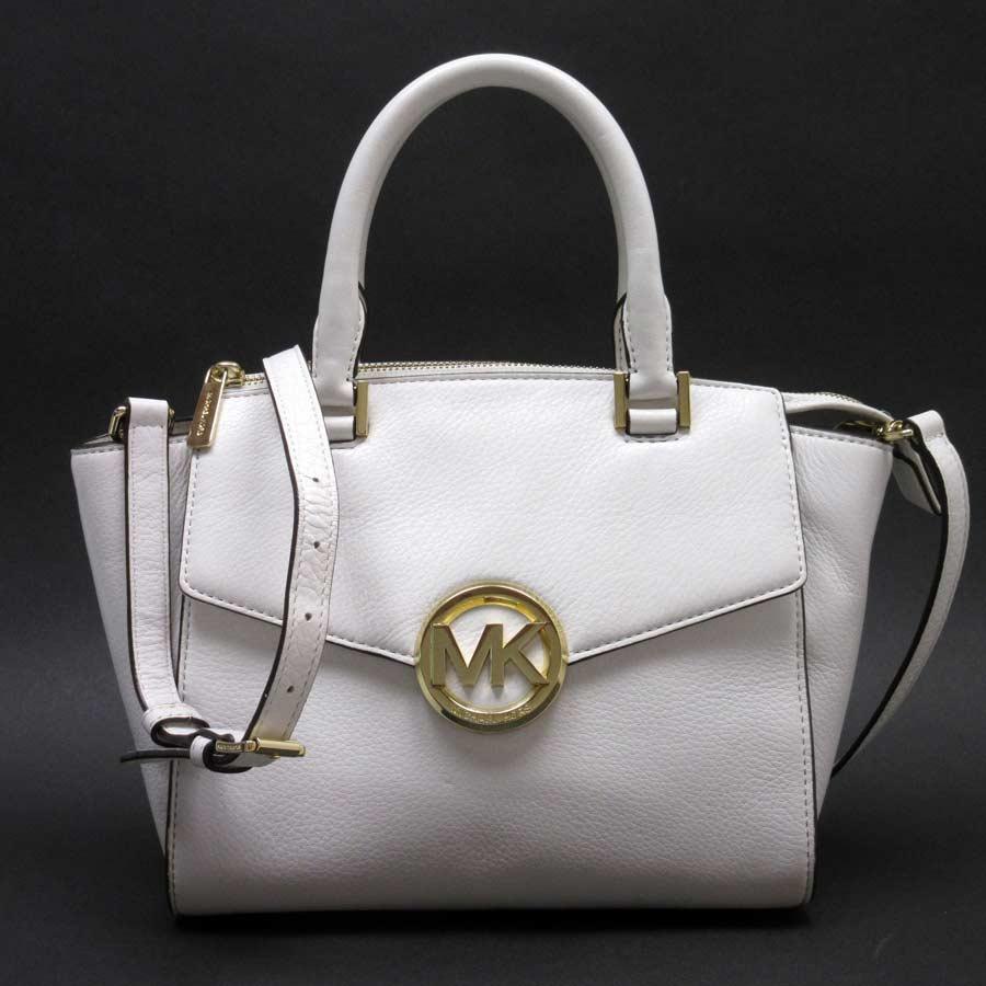 9f74a63ad5d Take Michael Kors MICHAEL KORS handbag slant; shoulder bag 2Way bag white x  gold leather Lady's - h19618