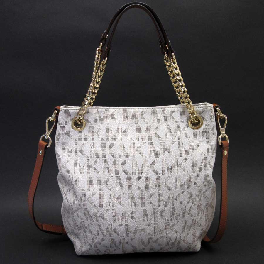 81d8fa84a63 Take Michael Kors MICHAEL KORS handbag slant; shoulder bag 2Way bag ivory x  brown x gold leather x metal material Lady's - h19779