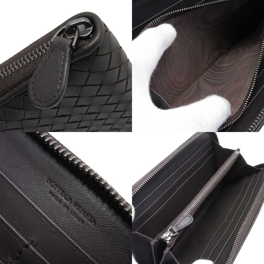 a3b6ce91ca48 ボッテガヴェネタの長財布です。定番のイントレチャートに高級感のある柔らかいレザー 。ラウンドファスナーのオールインワンタイプで、とても使いやすいデザインです♪
