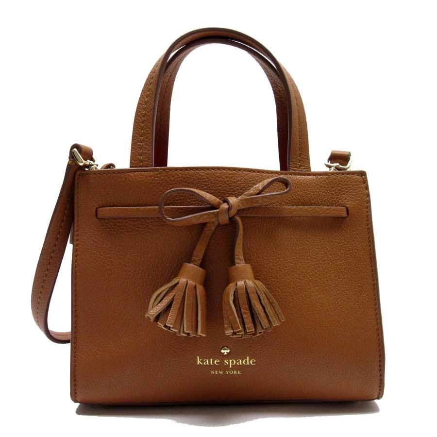 Take Kate Spade Handbag Slant Shoulder Bag 2way Ribbon Tassel Brown X Gold Leather Lady S T13936