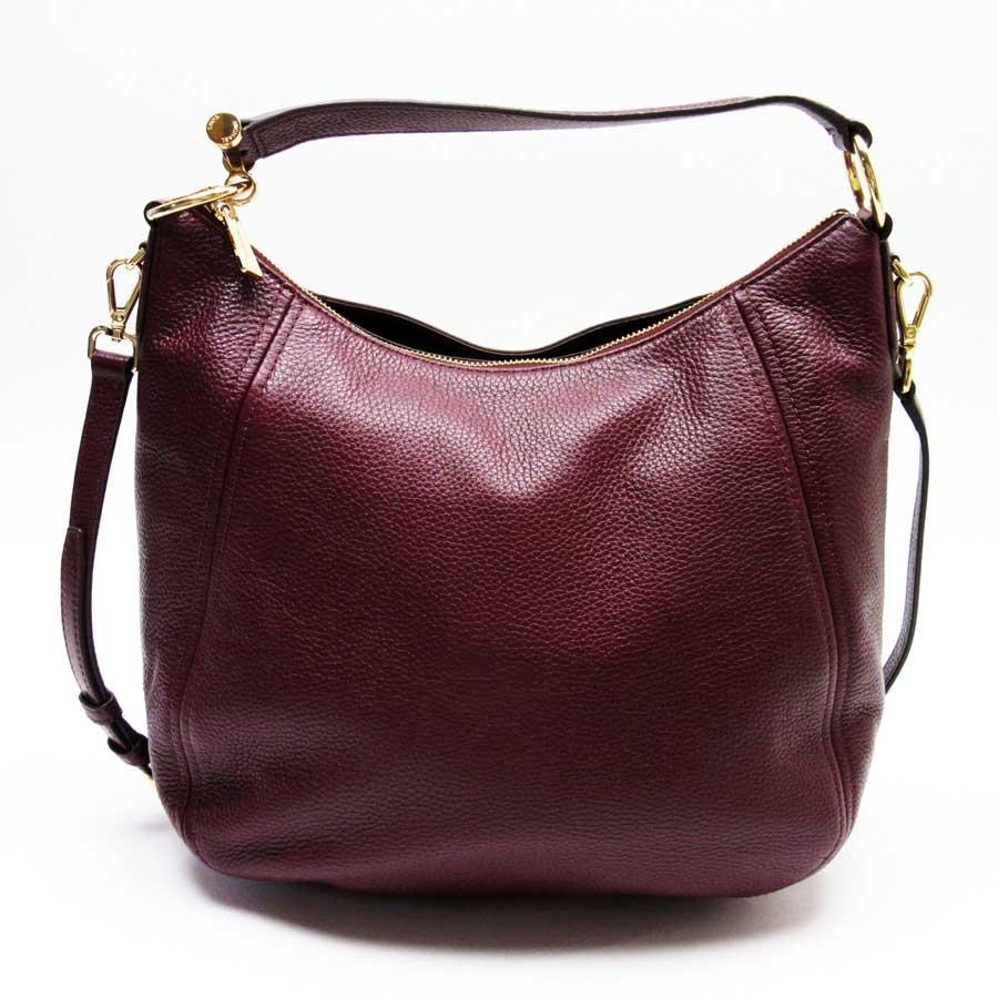 548ce5123303 [basic popularity] [used] take Michael Kors [MICHAEL KORS] shoulder bag  slant; shoulder bag 2Way bag lady Bordeaux x gold leather