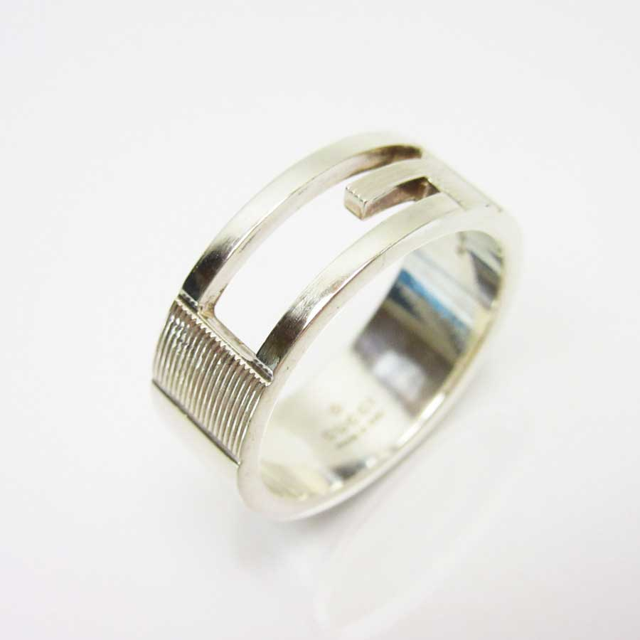 cc970c2ff [basic popularity] [used] Gucci [GUCCI] G motif ring ring Lady's silver  Ag925