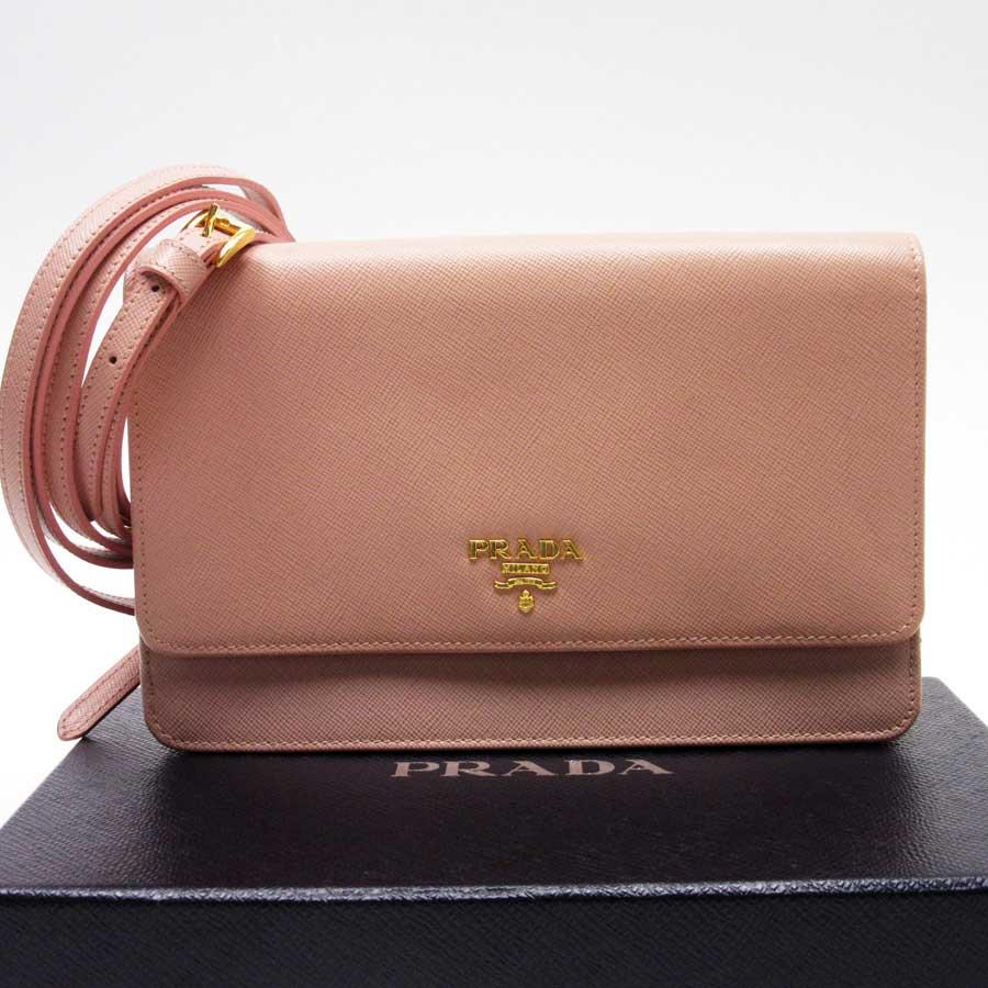 00f6e5ff81  there is reason  Take Prada  PRADA  slant  used   shoulder bag shoulder  wallet Lady s pink x gold leather