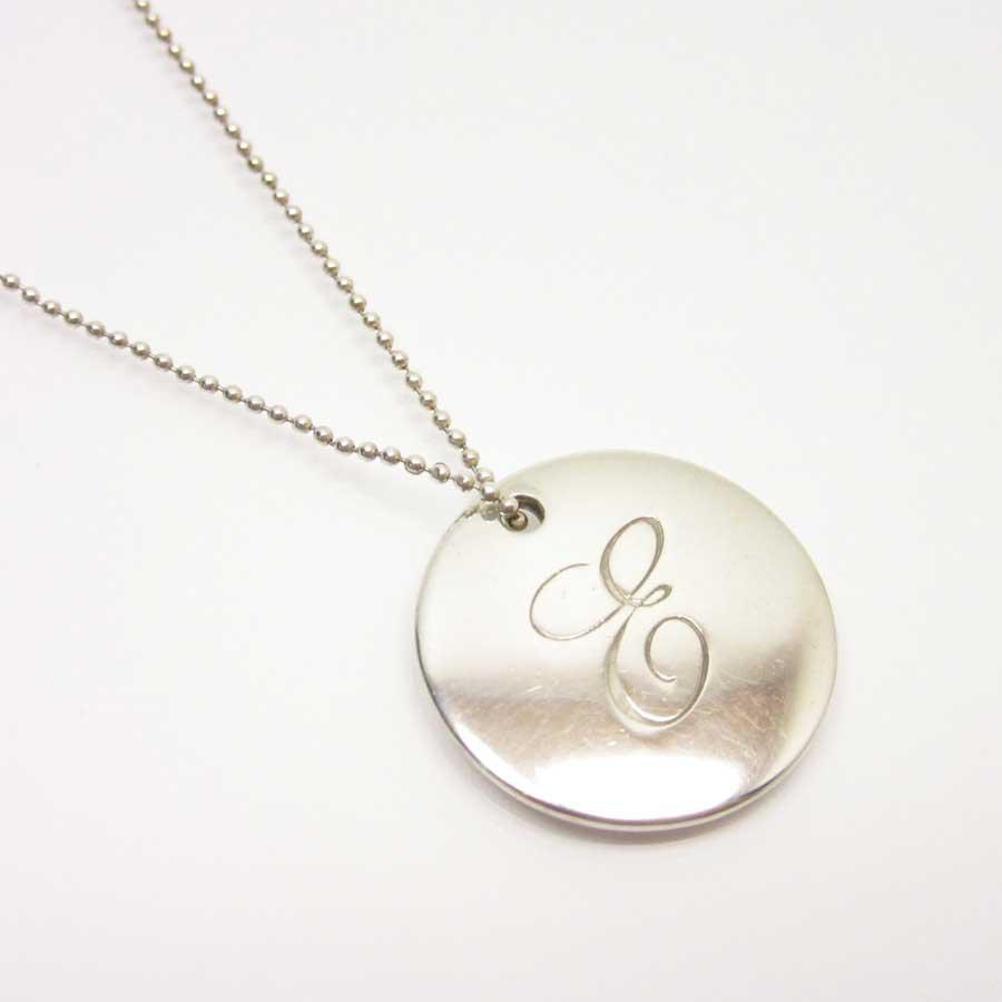 7d2e0435a Brandvalue Tiffany Tiffanyco Necklace Initial Pendant Silver. Rrp 360 Tiffany  Co Silver Peretti Ini