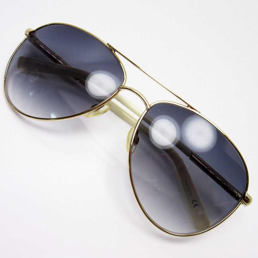 713e97bf1624 BrandValue: Christian Dior Christian Dior sunglasses teardrop lens: A black  frame: A gold temple: Gold / ivory SSx plastic Lady's men - x2425   Rakuten  ...