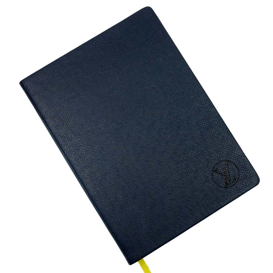 【新品同様】ルイヴィトン Louis Vuitton ノート タイガ ネイビー タイガレザー 【中古】 - a1479