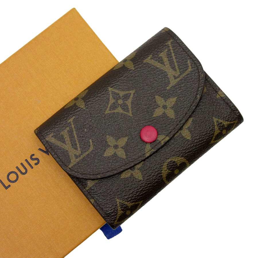 ルイヴィトン Louis Vuitton コインケース カードケース モノグラム ポルトモネ・ロザリ フリージア モノグラムキャンバス レディース M62532 【中古】【おすすめ】 - h20210