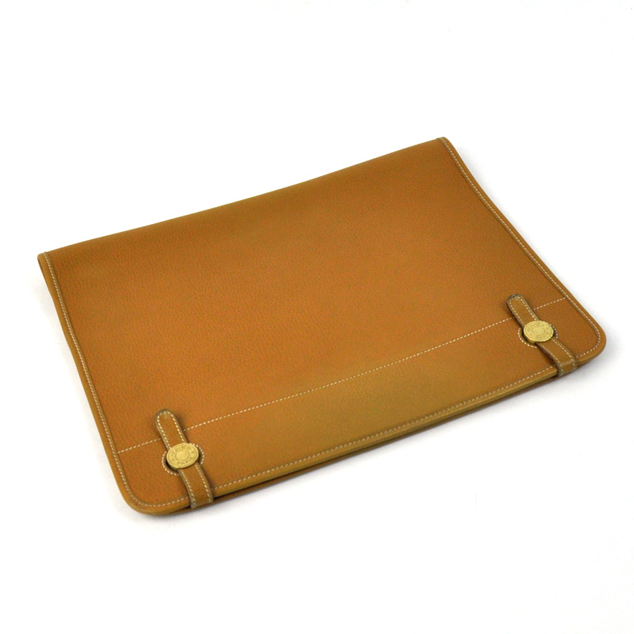 f986b6eed515 There is Hermes  HERMES  clutch bag documents bag lady men brown leather   used  reason