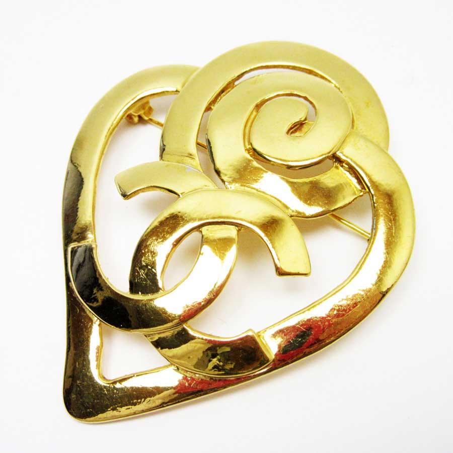 592f7cbb8c3318 【定番人気】 【中古】シャネル【CHANEL】ココマーク ブローチ レディース ゴールド 金属素材