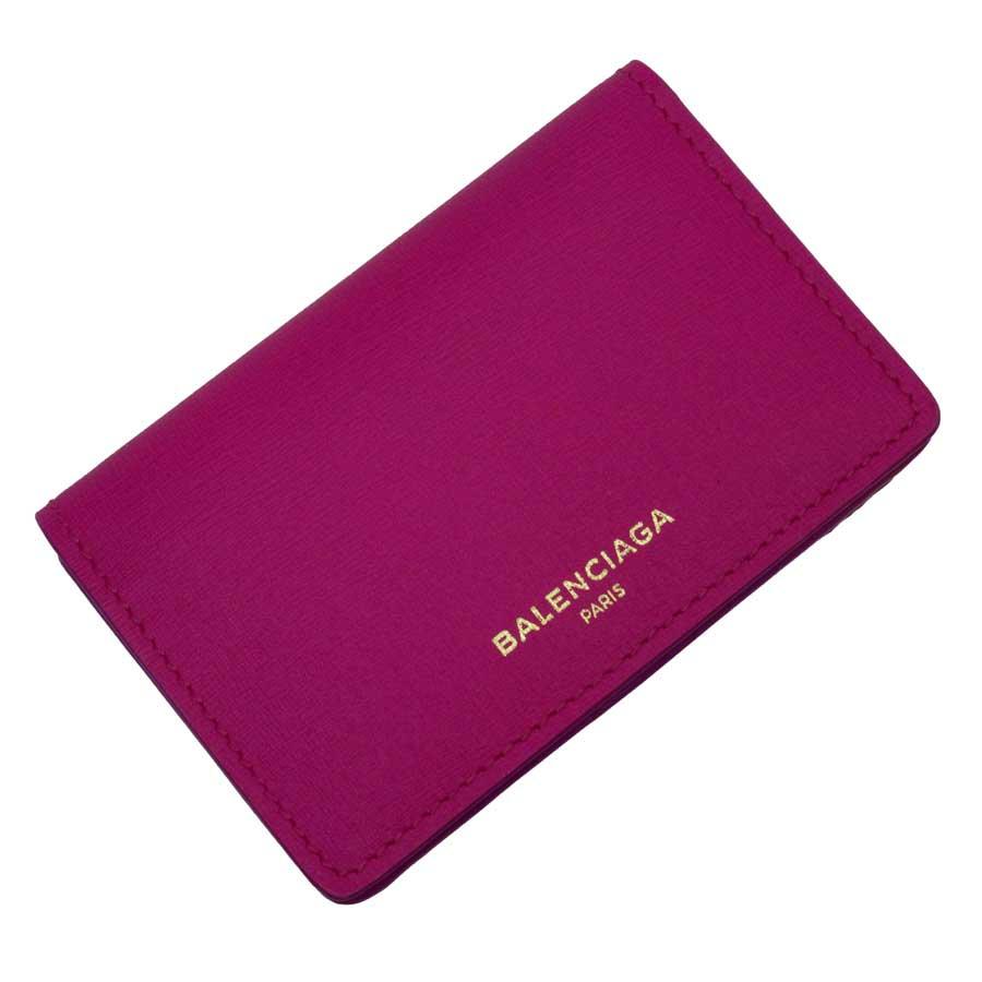 【美品】バレンシアガ BALENCIAGA カードケース 名刺入れ ピンク レザー レディース 【中古】 - h20678