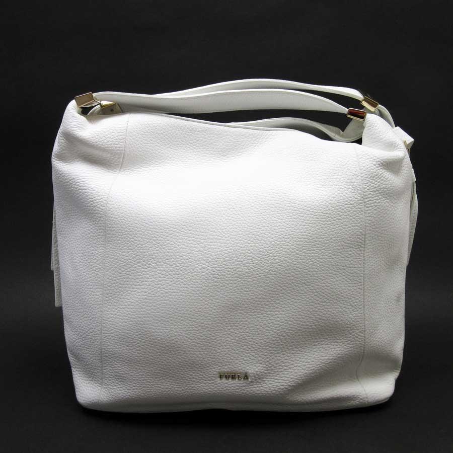 フルラ Furla Shoulder Bag 2way White X Gold Leather Lady S H20830