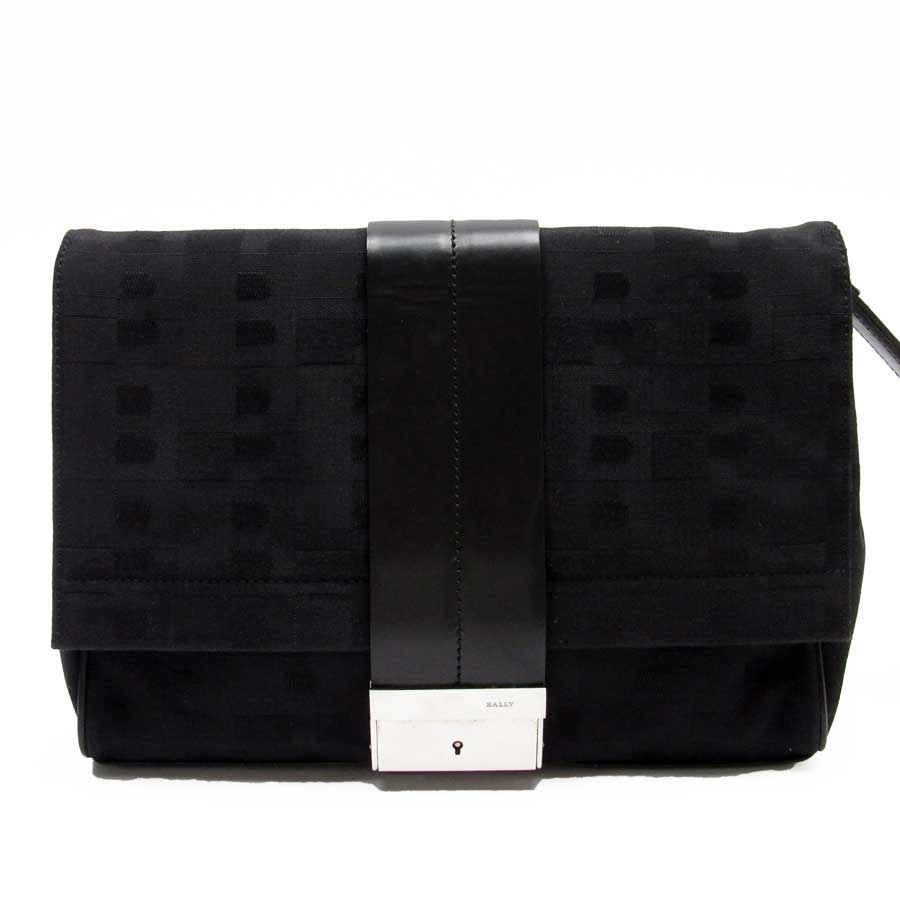 watch promotion new varieties Barry BALLY clutch bag second bag black x silver canvas x leather men -  h20845