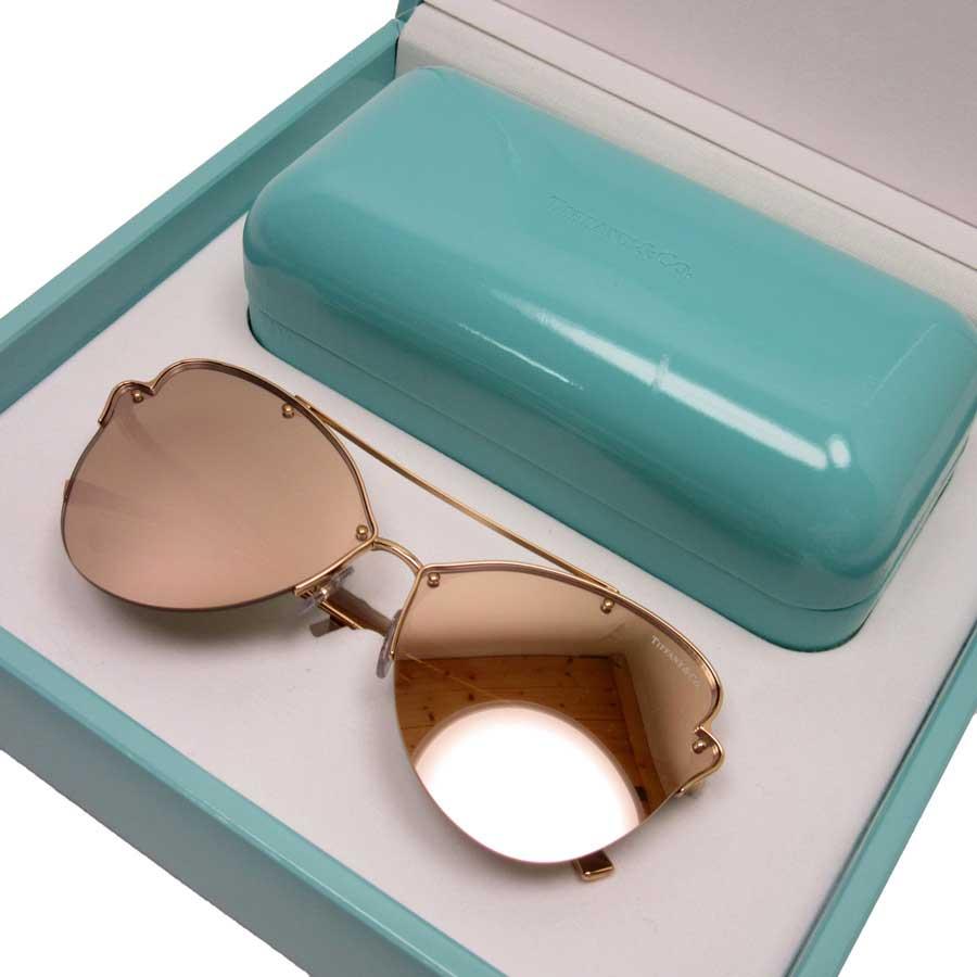 58e42ab22cba  basic popularity   used  Tiffany  Tiffany Co.  sunglasses 64 □ 12 140  lady s gold plastic xSS