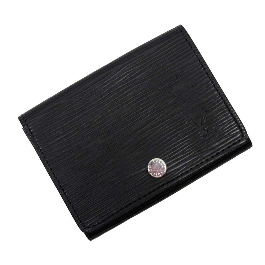 ルイヴィトン Louis Vuitton カードケース 名刺入れ エピ アンヴェロップ・カルト ドゥ ヴィジット ノワール(ブラック) エピレザー M56169 【中古】【定番人気】 - h20883