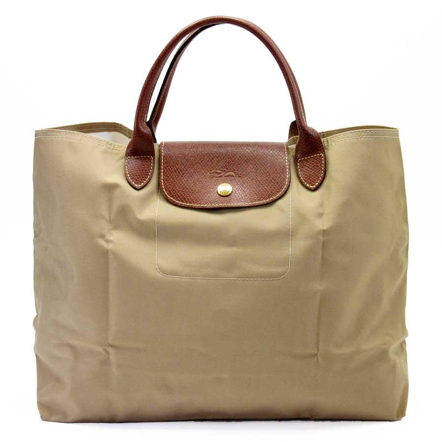 5ce0afc6062 BrandValue: Longchamp LONGCHAMP ハンドバッグトートバッグルプリアージュベージュ x brown nylon x  leather Lady's - h21014 | Rakuten Global Market