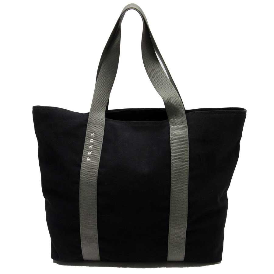 051e4ceef056 BrandValue: Prada PRADA shoulder bag tote bag Prada sports black x gray  canvas x nylon Lady's men - t14447 | Rakuten Global Market