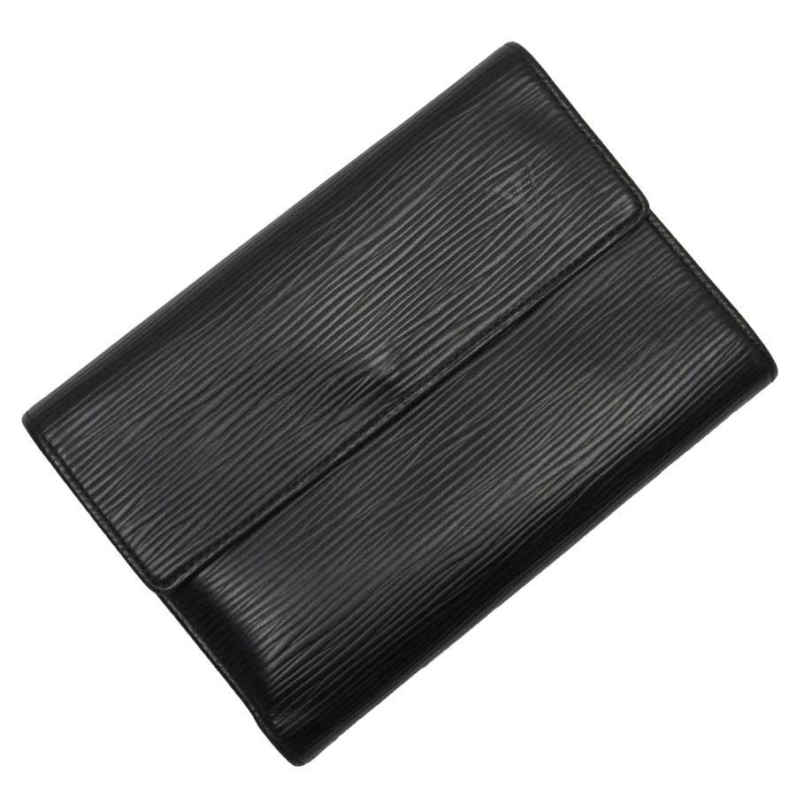 ルイヴィトン Louis Vuitton 三つ折り財布 エピ ポルトトレゾールエテュイ ブラック(ノワール) エピレザー レディース メンズ M63712 【中古】【定番人気】 - t14753