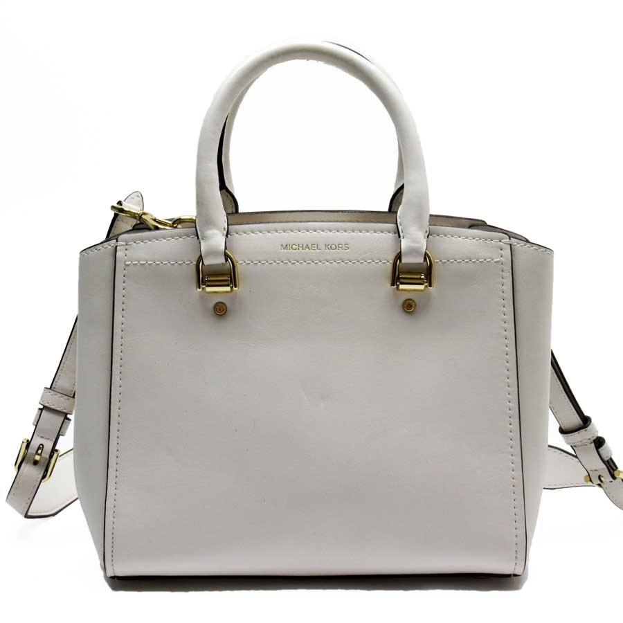 65dd78983b0 Take Michael Kors MICHAEL KORS handbag slant; shoulder bag 2Way bag ivory x  gold leather Lady's - h21811
