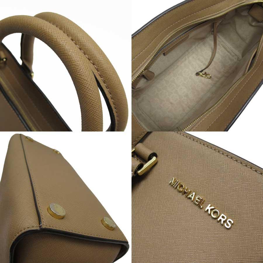 2ba57d046aa Take Michael Kors MICHAEL KORS handbag slant; shoulder bag 2Way bag beige x  gold leather Lady's - h21912