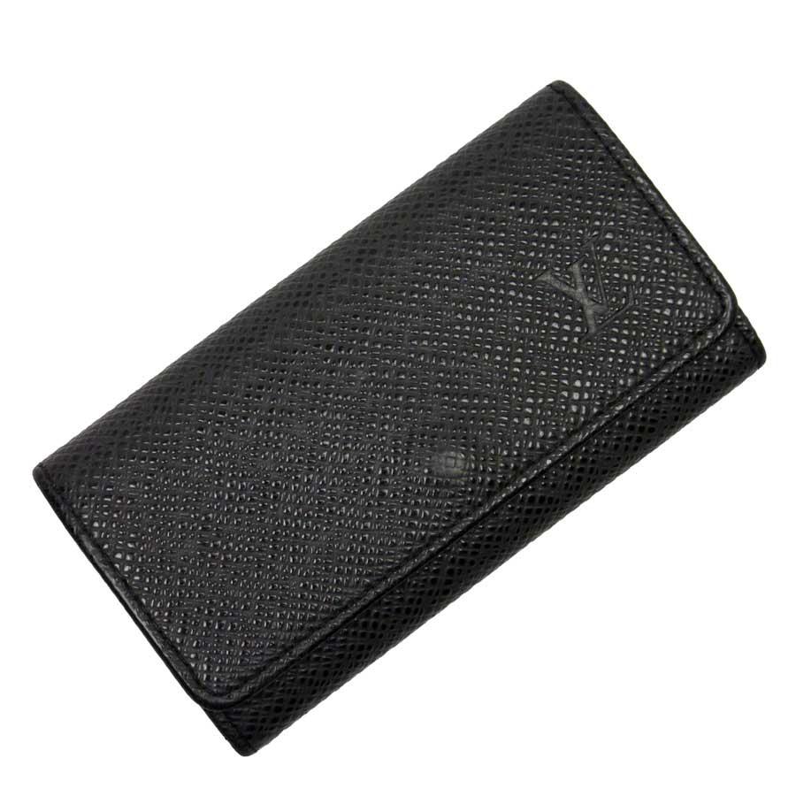 ルイヴィトン Louis Vuitton 4連キーケース タイガ ミュルティクレ4 アルドワーズ(ブラック) タイガレザー メンズ M30522 【中古】【定番人気】 - t14892