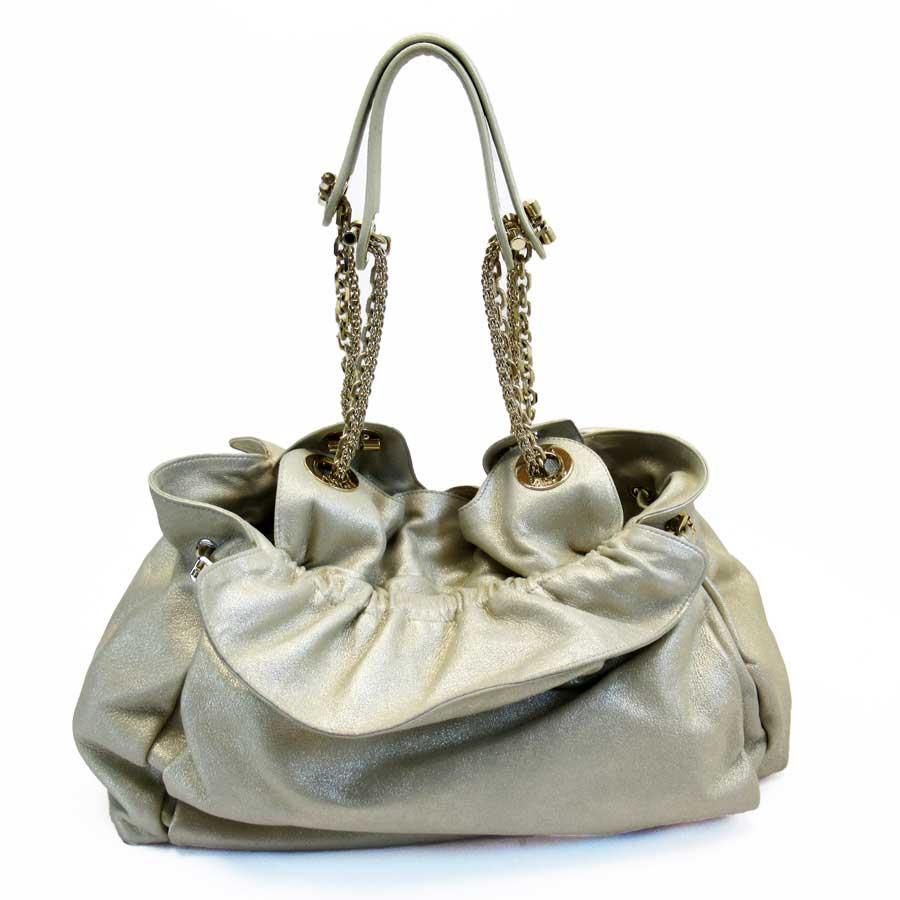 クリスチャンディオール Christian Dior ショルダーバッグ ゴールド レザー レディース 【中古】【定番人気】 - h22288