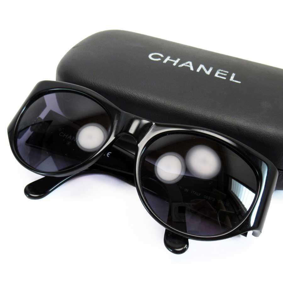 シャネル CHANEL サングラス ココマーク ブラックxゴールドxネイビー系レンズ プラスチック 【中古】【定番人気】 - h22472