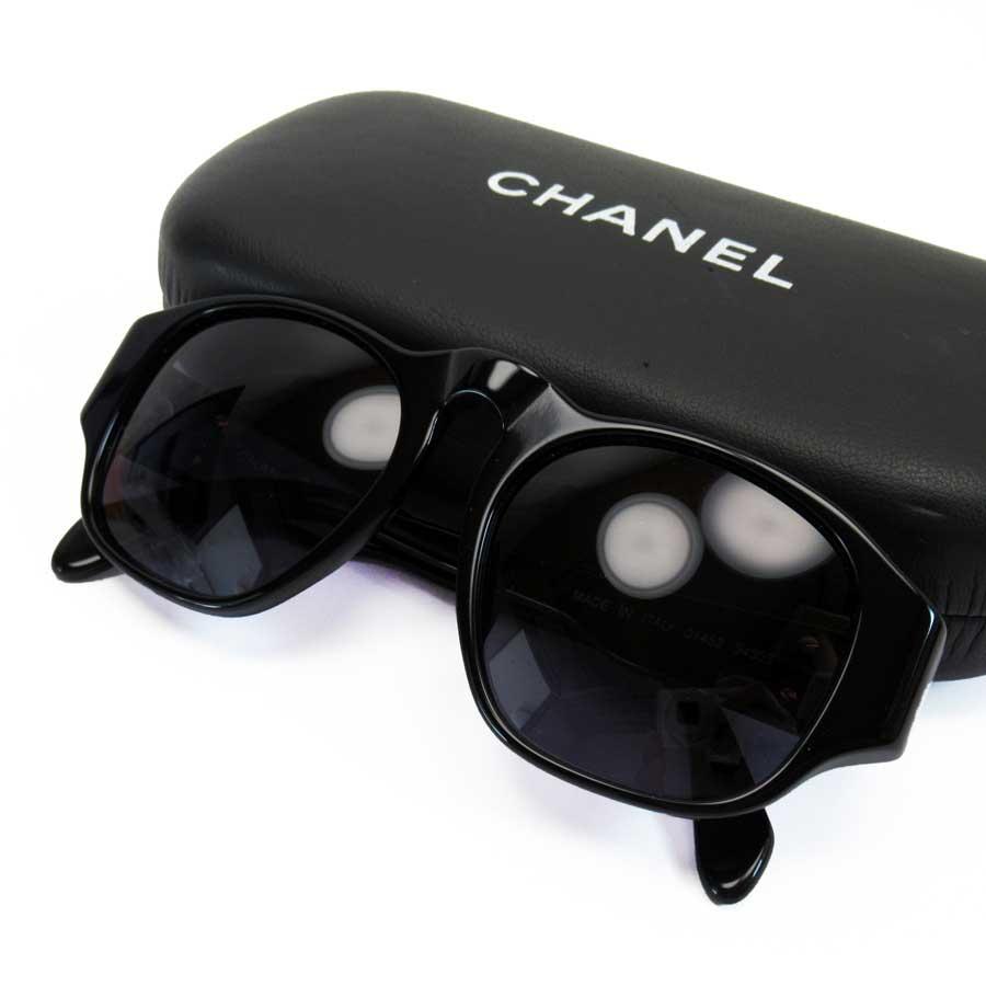 シャネル CHANEL サングラス ココマーク ブラックxゴールドxネイビー系レンズ プラスチック 【中古】【定番人気】 - h22473