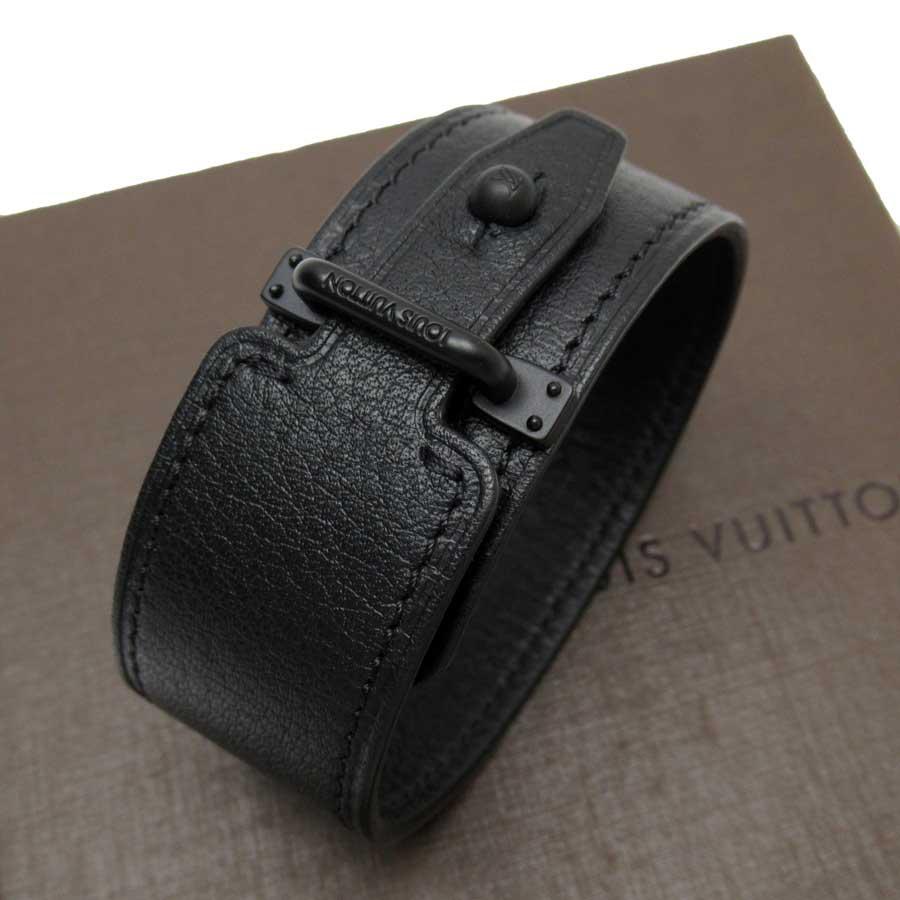 ルイヴィトン Louis Vuitton ブレスレット バングル ブラスレ ヒストリー ブラック レザー MP057 【中古】【おすすめ】 - t15736