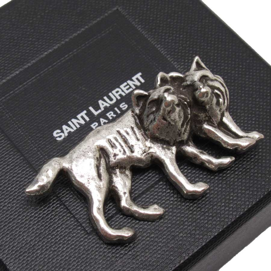 サンローラン SAINT LAURENT ブローチ シルバー 金属素材 レディース 【中古】【定番人気】 - h23191