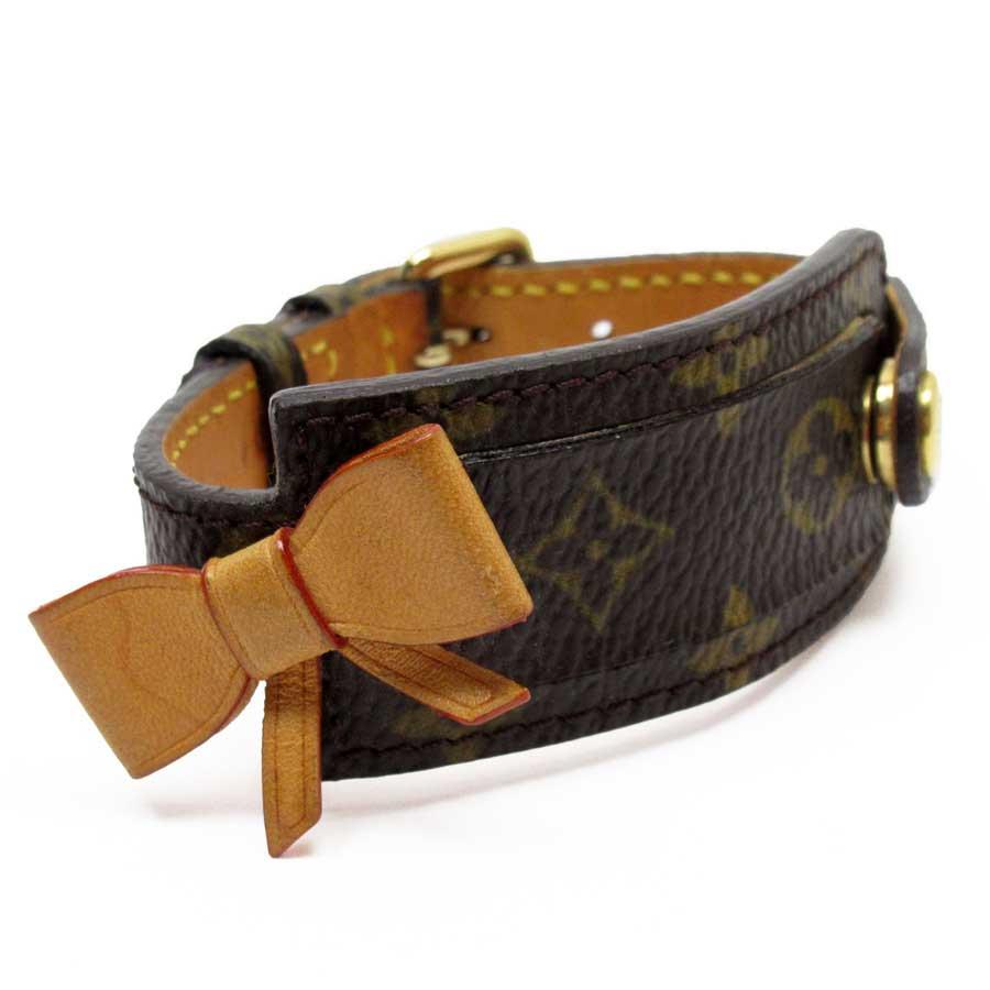 ルイヴィトン Louis Vuitton ブレスレット バングル モノグラム ポルトアドレス リボン モノグラムキャンバス M92577 【中古】【定番人気】 - x3071