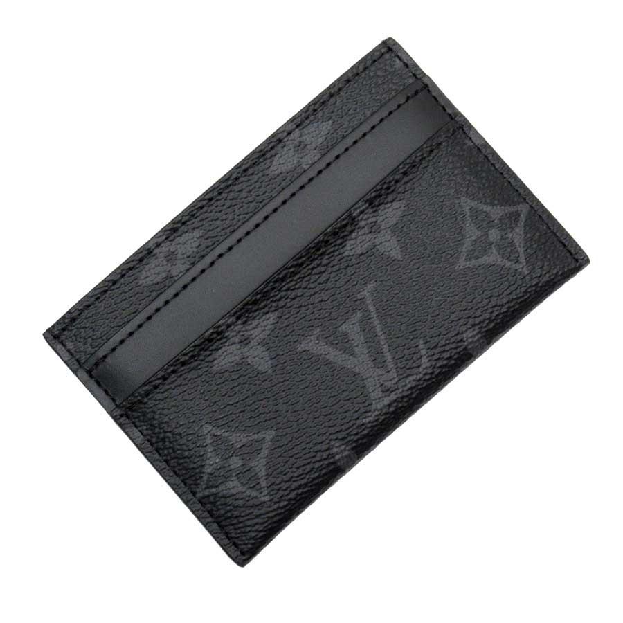 ルイヴィトン Louis Vuitton カードケース パスケース モノグラム エクリプス ブラックxグレー モノグラムエクリプス キャンバス レディース メンズ M62170 【中古】【定番人気】 - g1536c