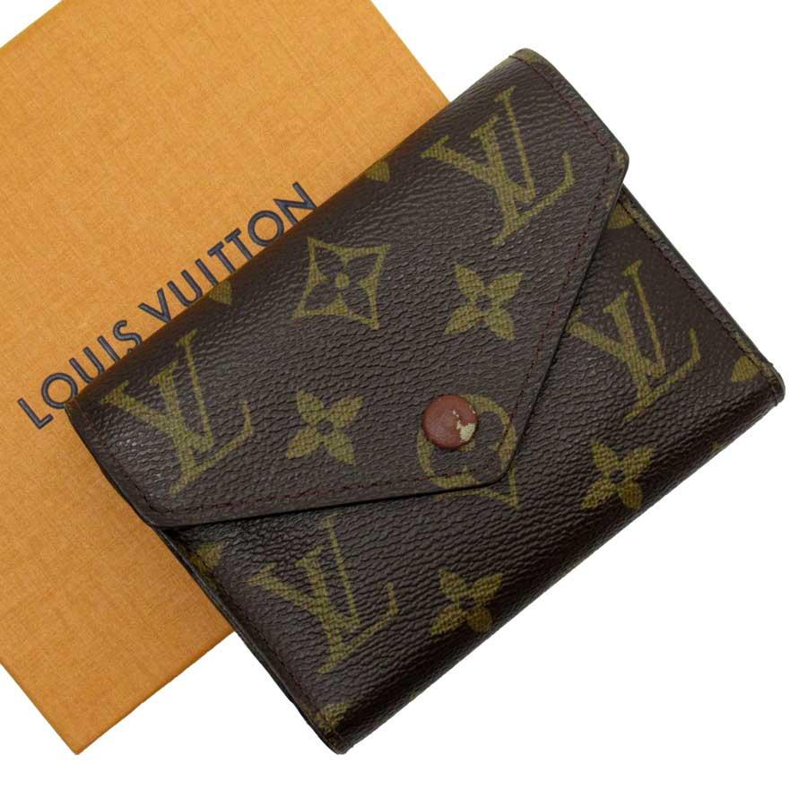 ルイヴィトン Louis Vuitton 三つ折り財布 モノグラム ポルトフォイユ ヴィクトリーヌ モノグラムキャンバス レディース M62472 【中古】【おすすめ】 - h23416c