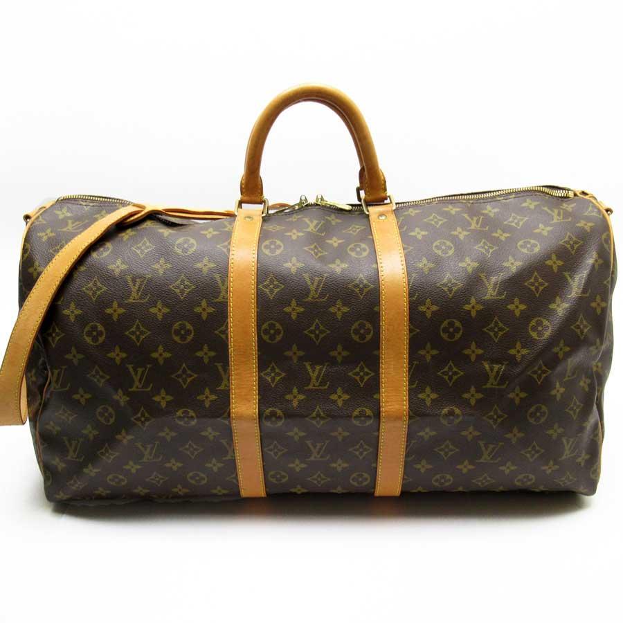 ルイヴィトン Louis Vuitton ハンドバッグ ショルダーバッグ ボストンバッグ 2Wayバッグ モノグラム キーポル55 バンドリエール モノグラムキャンバス レディース メンズ M41424 【中古】【定番人気】 - h23513a