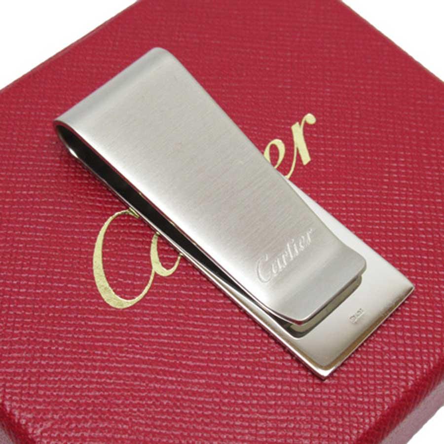 カルティエ Cartier マネークリップ シルバー 金属素材 レディース メンズ 【中古】【定番人気】 - n9363