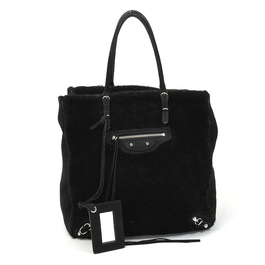 balenciaga suede handbag