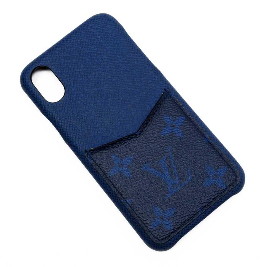 ルイヴィトン Louis Vuitton iPhoneケース X/Xs タイガ/モノグラム iPhone バンパーX/XS コバルト(ブルー) タイガレザーxモノグラム・キャンバス レディース メンズ M67680 【中古】【定番人気】 - g1552c