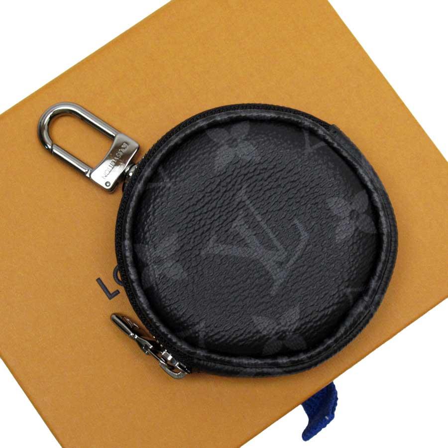 ルイヴィトン Louis Vuitton コインケース モノグラム エクリプス ポルトクレ・ラウンド ブラック モノグラムキャンバス M62796 【中古】【定番人気】 - h23843