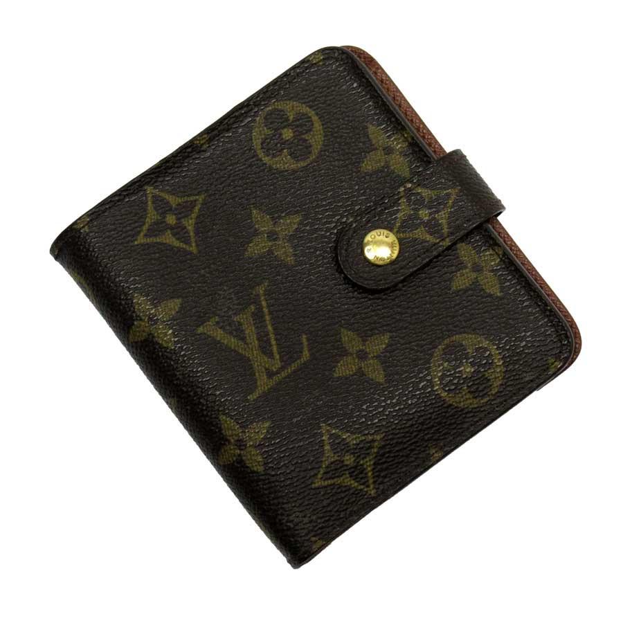 ルイヴィトン Louis Vuitton 二つ折り財布 モノグラム コンパクトジップ モノグラムキャンバス レディース M61667 【中古】【定番人気】 - h23974d