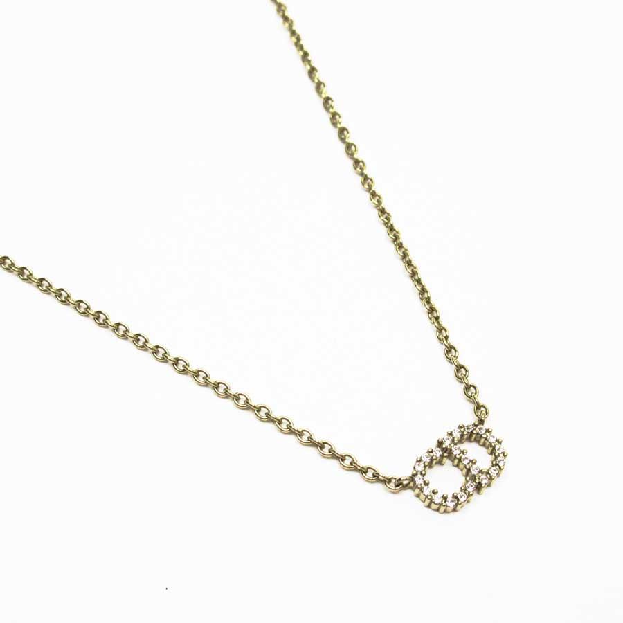 クリスチャンディオール Christian Dior ネックレス ゴールドxホワイト 金属素材xクリスタル レディース 【中古】【定番人気】 - t16198e