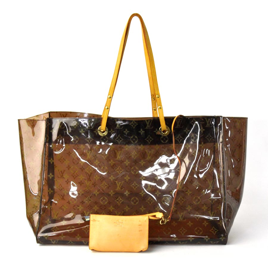 9b26eedafd65 Plastic  used  basic popularity of Louis Vuitton  Louis Vuitton  monogram  hippopotamus Cruise shoulder bag tote bag vinyl bag lady men Brown line